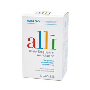 this is a picture of alli weight loss in a white box