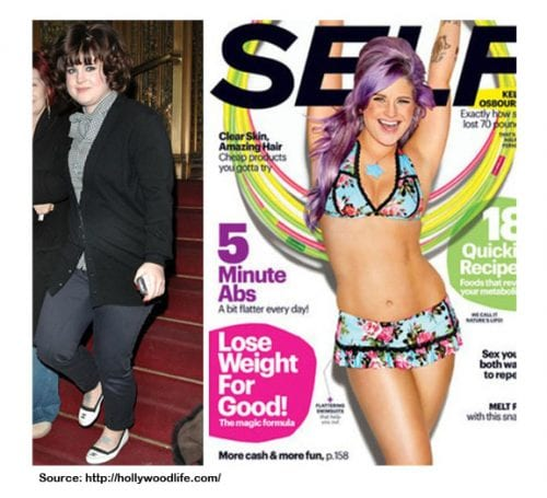 This is a picture of kelly osbourne weight loss transformation