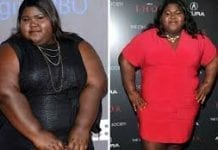 precious weight loss picture showing before and after
