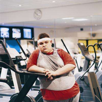 walking on a top treadmill for heavy people
